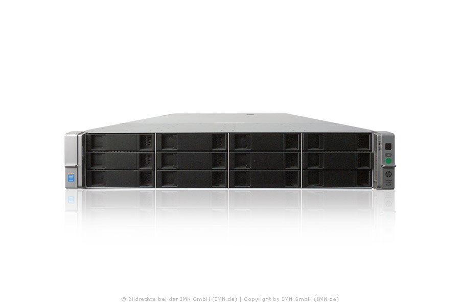 HP ProLiant DL380 Gen9, Xeon 2x E5-2690v3, 24x 16GB, 1x 3,2TB NVMe SSD, 2 PSU, Rackkit rfb.