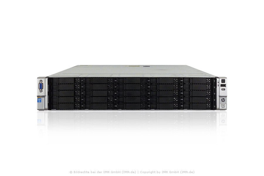 HP ProLiant DL380p G8, 2x E5-2660v2, 64GB, 25xSFF, 2x PSU, Rackkit, rfb.