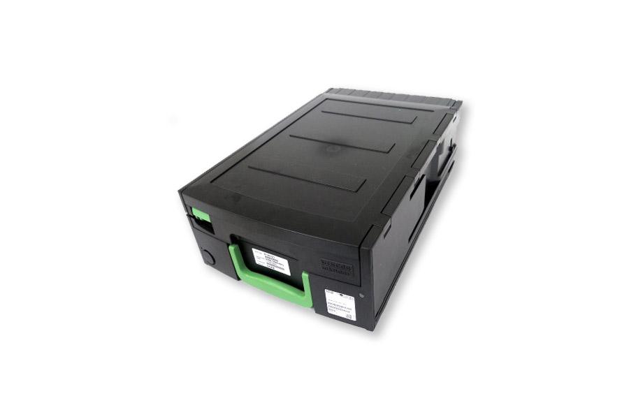 Diebold Nixdorf Geldkassette / cash box Rec. MR CM Schloss / lock II