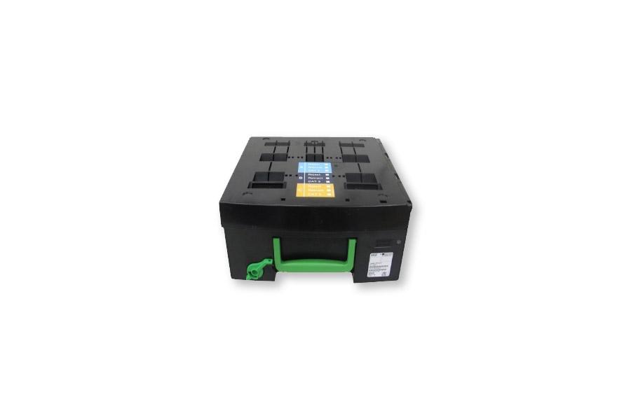 Diebold Nixdorf Geldkassette / cash box RR KAT3 MR3 CM Knebel / locking bolt
