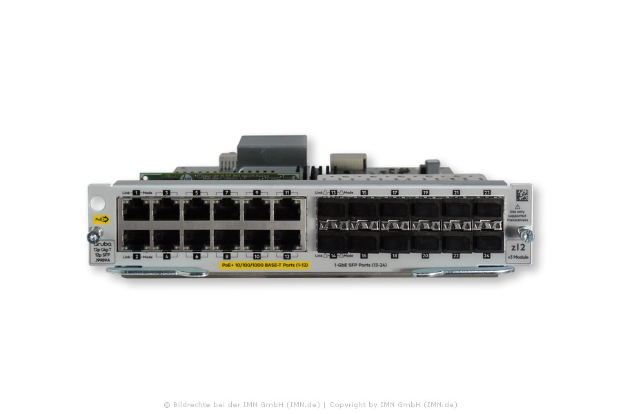 12-port 10/100/1000Base-T PoE+ / 12-port 1GbE SFP MACsec v3 zl2 Modul