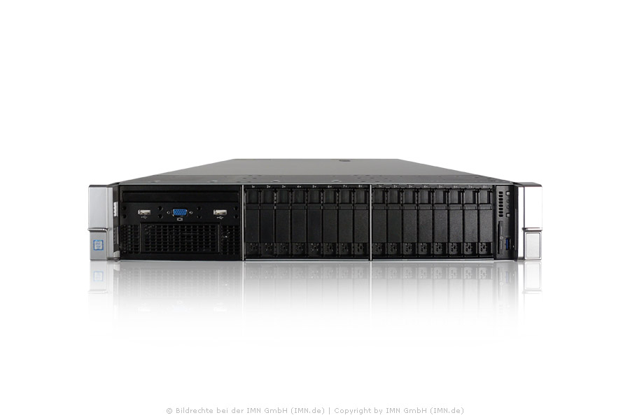 HP ProLiant DL380 Gen9, 1x E5-2697v4, 128GB, 2x 960GB SAS 12G SSD, 2x PSU, rfb.